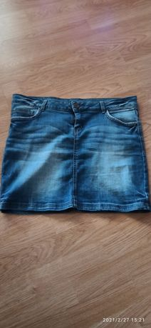 Spódnica z jeansu niebieska L