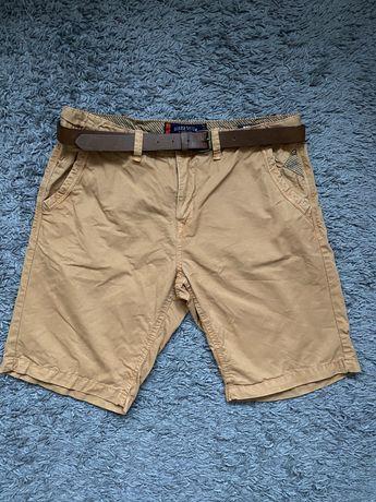 Spodnie krótkie męskie z paskiem Diverse 33