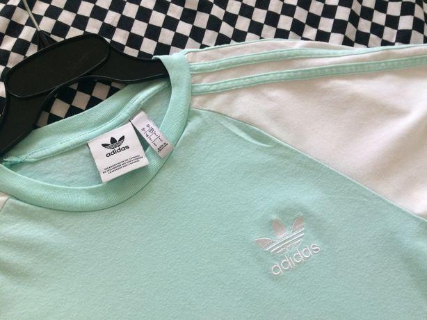 ADIDAS Originals oryginalna koszulka r.S/M kolor mętowy
