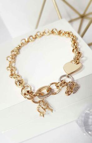 Złota bransoletka próba 585 14k złoto