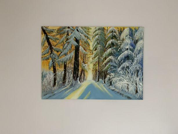 50x70 cm NOWY obraz malowany przez malarza rękodzieło płótno CUDO !