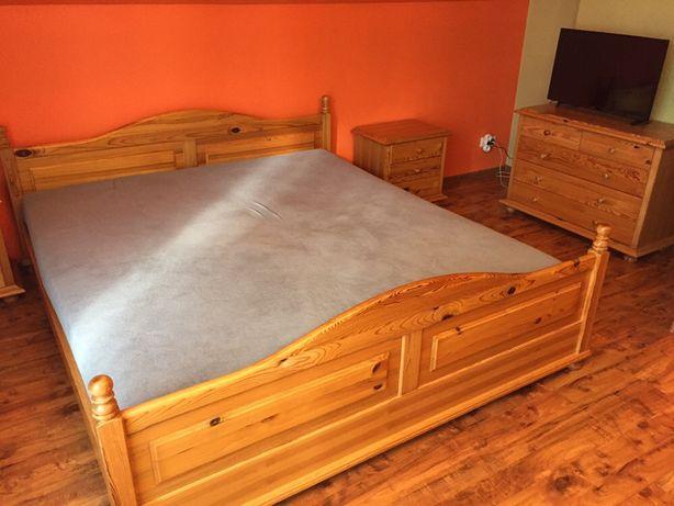 Meble sosnowe,sypialnia,komoda,łóżko,lustro,szafka nocna.