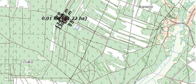 Sprzedam 90 letni las sosnowy z gruntem o pow. 1,24ha w Woli Soleckiej