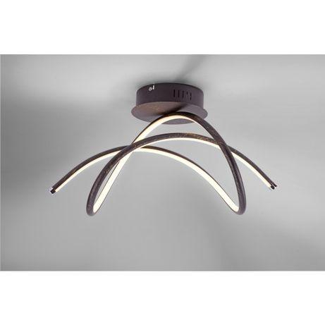 Nowoczesna lampa sufitowa LED Violetta 15441 fale łuki czarna złota