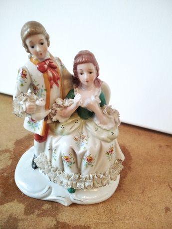 figurka porcelana para rokoko