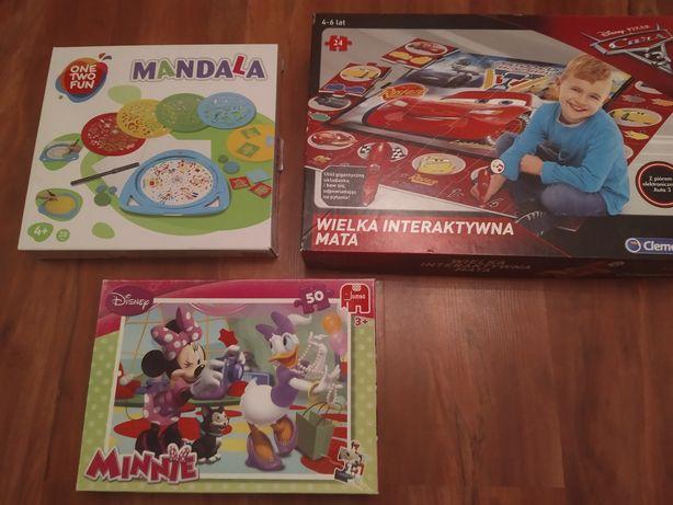 Zestaw: puzzle, gra, mandale