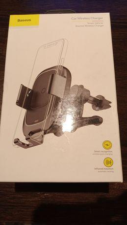 Uchwyt samochodowy na telefon Baseus Automatyczny z Ładowarką QI NOWY