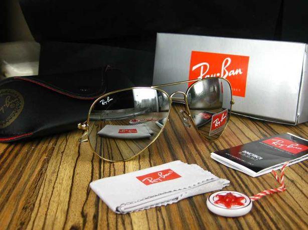 Ray ban oculos de sol 3025 e 3026 dourado mirror aviador rayban