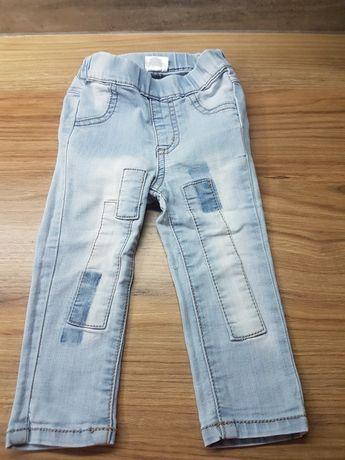 Rozm 80 spodnie dziewczęce jeansy rurki