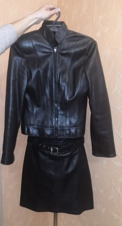 Костюм кожаный женский