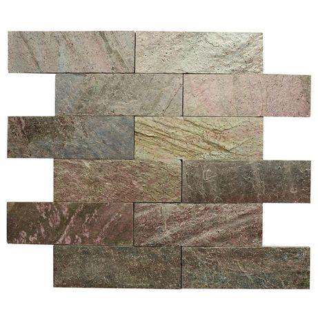 Płytki Kamienne Łupek Miedziany Copper Brown naturalny 10x30x1cm
