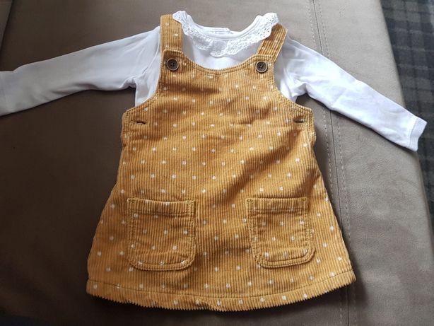 Sztruksowa sukienka z body