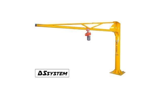 ŻURAW SŁUPOWY OBROTOWY - 500 kg / 7 m ramię