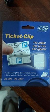 Clip para taloes estacionamento