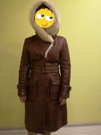 Дубленка, зимнее пальто, р. S