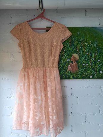 Платье персикового цвета для выпускного/свадьбы/вечеринки