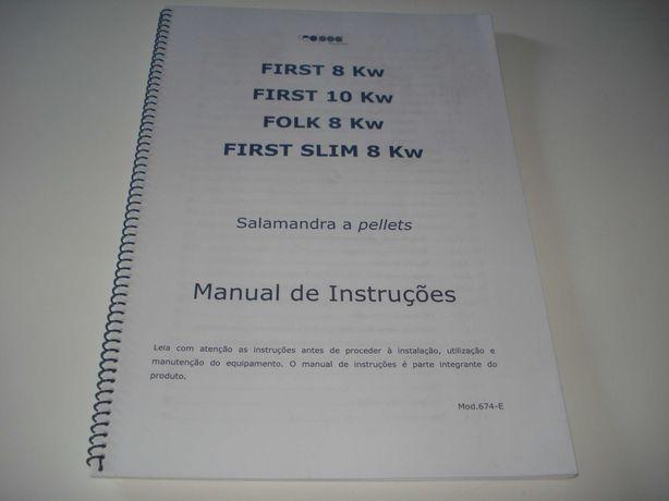 Manual de Instruções Salamandra a Pellets