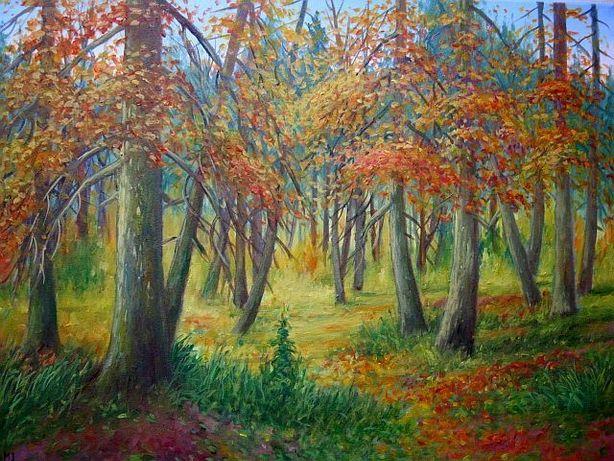"""Obraz olejny """" Jesień XII """" 46 x 61 cm"""
