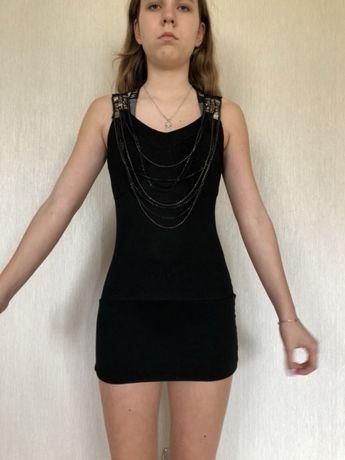Платье туника для девочки Италия с цепочками и заклепками