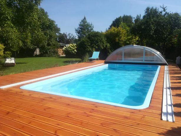 Basen ogrodowy poliestrowy kąpielowy gotowy wkopywany 7x3,2 PRODUCENT