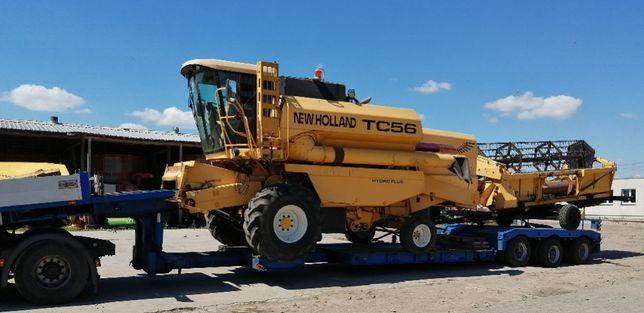 Transport niskopodwozia ponadgabaryt koparki maszyny rolnicze