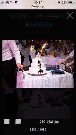 topery na tort ślubny