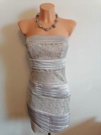Sukienka srebrna na różne okazje