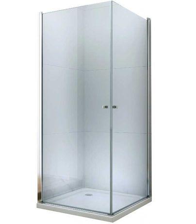 Kabina prysznicowa otwierana podwójnie różne rozmiary Chrom