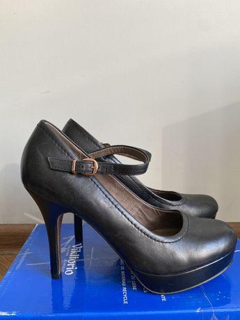 Tamaris кожаные женские туфли размер 38 лодочки zara mango h&m