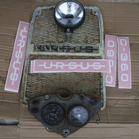 Ursus c360 atrapa,konsola,lampa,zegary,wskazniki,szablony,felgi 16-PRL