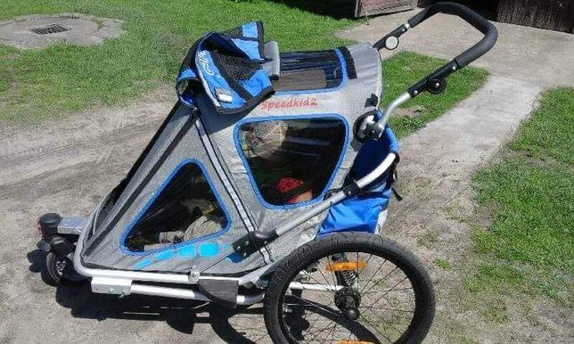 Przyczepka dwuosobowa dla dzieci na rower