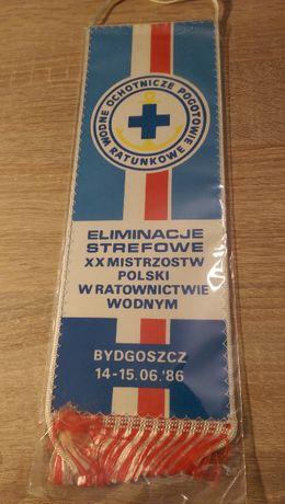 Proporczyk WOPR Bydgoszcz 1986 (Kolekcja z PRL)