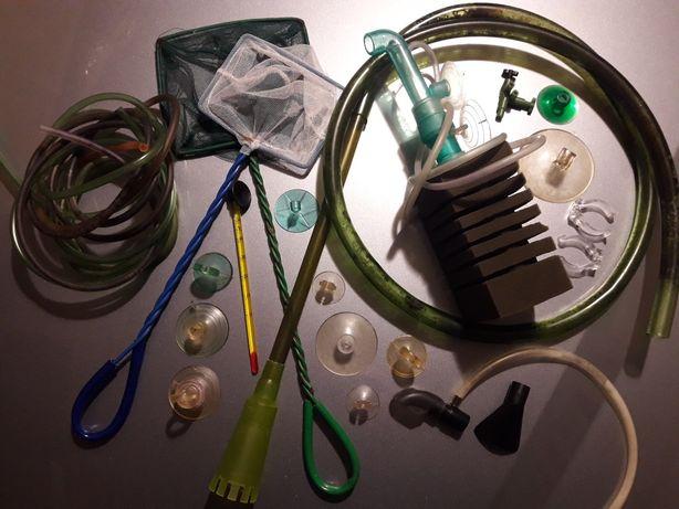 Odmulacz sitka ssaki przylepce akcesoria akwariowe termometr
