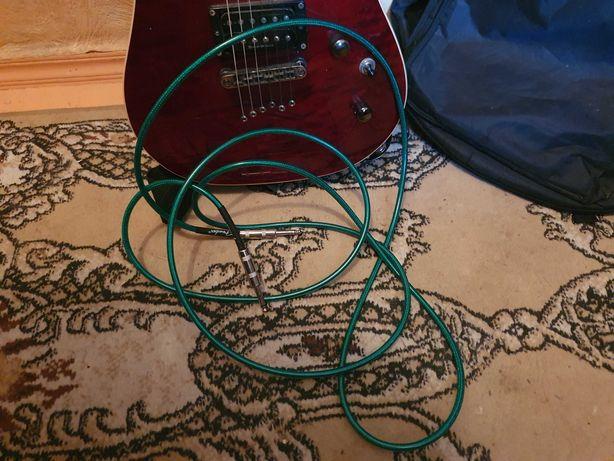 Электрогитара Cort kx1qbc с кабелем и чехлом, сквозн. струны, крас дер