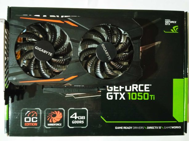 Видеокарта Gigabyte GeForce GTX 1050 TI 4GB OC