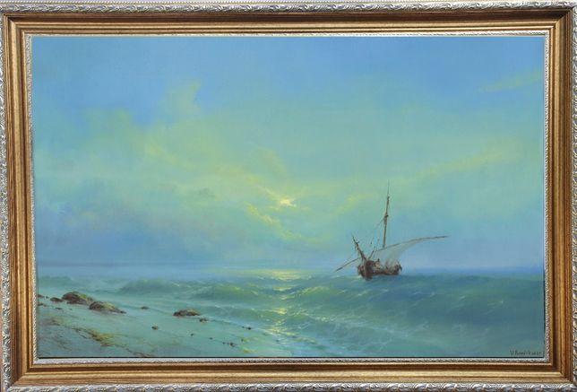 """Картина маслом """"Море"""".Торг!"""