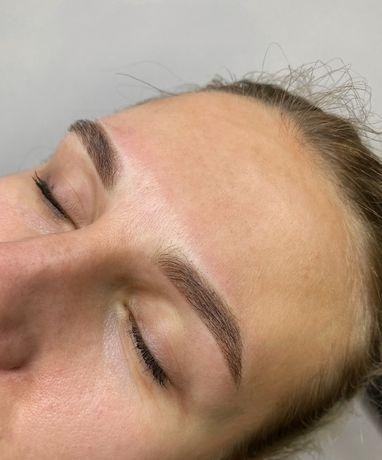 Пудровые брови, Ламинирование ресниц, коррекция и окрашивание бровей