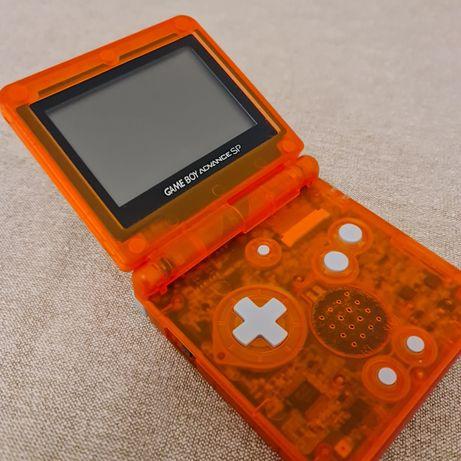 Game Boy Advance SP Laranja - c/ Carregador e Bolsa (Excelente Estado)