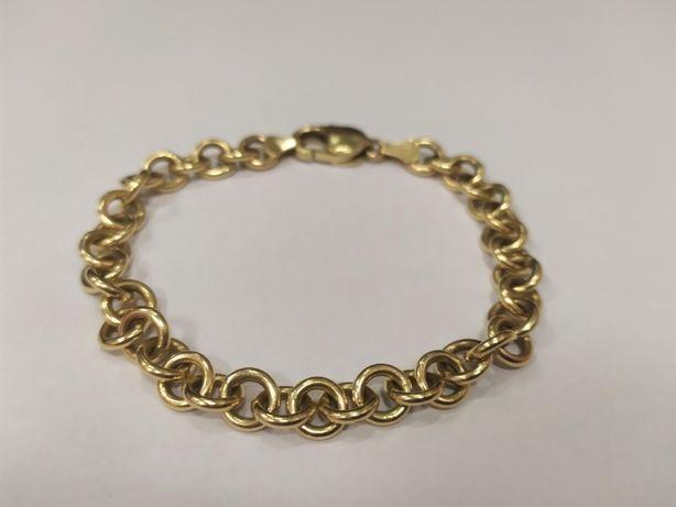 Piękna złota bransoletka damska 585 23,77 G