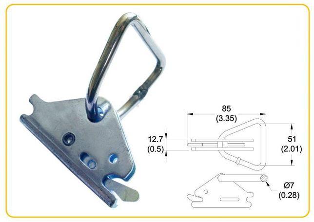 Gancho Zincado Triângulo Calha Contentor com Argola-Ref.701500
