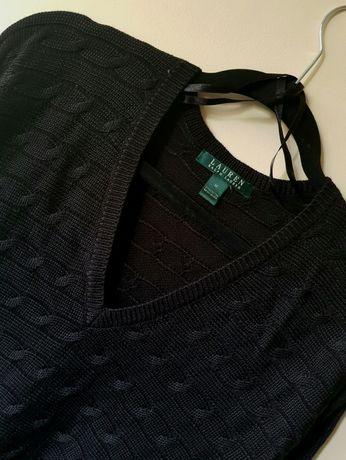 Ażurowy Sweter damski Ralph Lauren ideał rozm. M 38