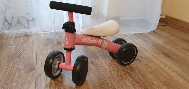 Mini rowerek biegowy, czterokołowy, pierwszy rowerek