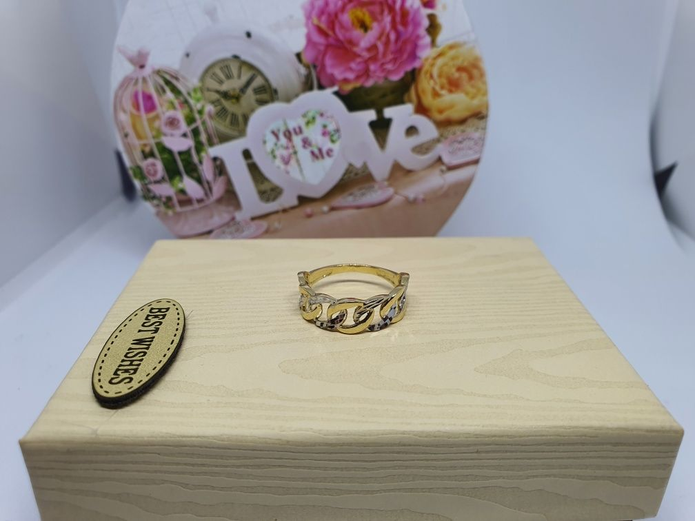 ** Złoty pierścionek 1.84g p.585-Lombard Stówka**