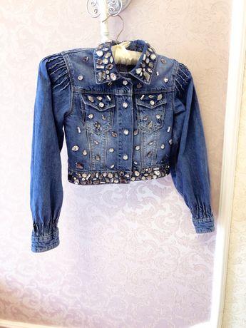 Джинсовая куртка пиджак To be too