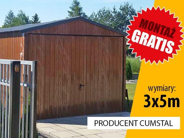 Garaż blaszny 3x5m z bramą uchylną - Cumstal Garaże , wiaty , hale