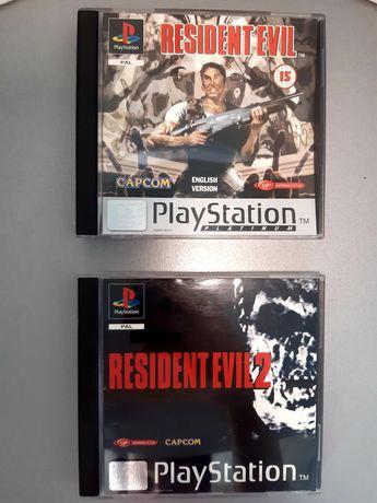 Jogos Resident Evil 1  e 2 para a PlayStation/PS1 (Capcom)