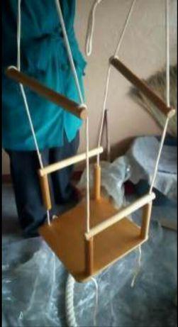 Деревянная качель для ребёнка от 1 до 3 лет