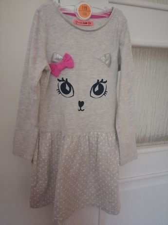 Cool Club by Smyk szara sukienka kotek roz 104