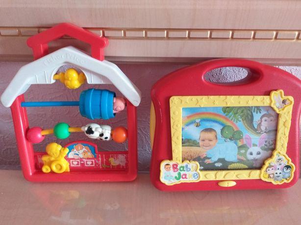 Фирменные игрушки счеты,планшет Цена за все 80гр