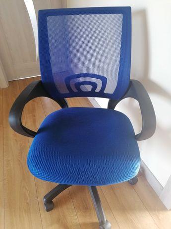 krzesło do biurka fotel obrotowy niebieski nowy siatka